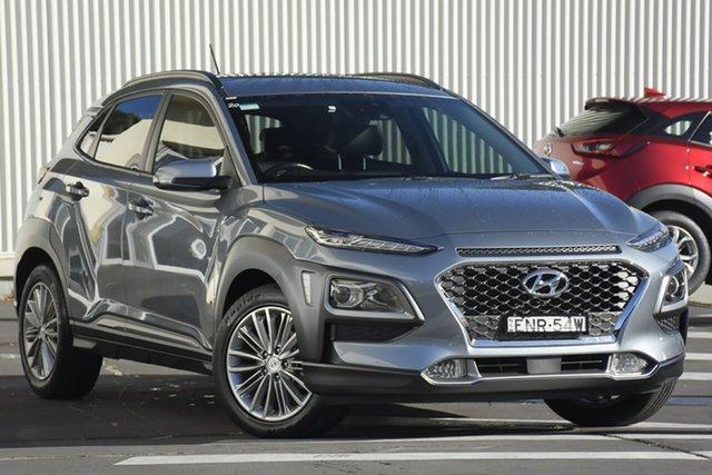 Used Hyundai Kona OS MY18 Elite 2WD Wollongong, 2017 Hyundai Kona OS MY18 Elite 2WD Grey 6 Speed Sports Automatic Wagon