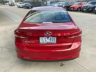 2017 Hyundai Elantra AD MY18 Elite Fiery Red 6 Speed Sports Automatic Sedan
