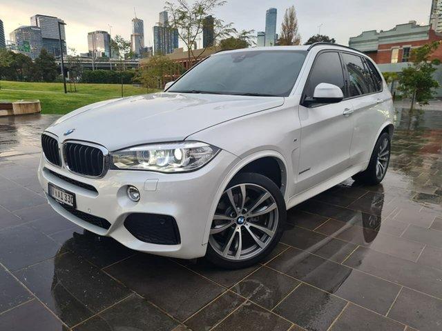 Used BMW X5 F15 xDrive30d South Melbourne, 2015 BMW X5 F15 xDrive30d White 8 Speed Sports Automatic Wagon