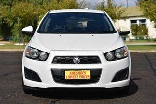 2012 Holden Barina TM White 5 Speed Manual Hatchback.