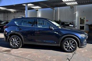 2018 Mazda CX-5 KF4WLA Akera SKYACTIV-Drive i-ACTIV AWD Blue 6 Speed Sports Automatic Wagon.