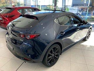 2021 Mazda 3 BP2HLA G25 SKYACTIV-Drive Astina Deep Crystal Blue 6 Speed Sports Automatic Hatchback
