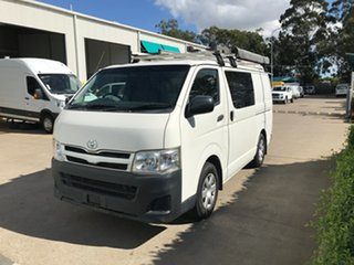 2010 Toyota HiAce KDH201R MY10 LWB French Vanilla 5 speed Manual Van.