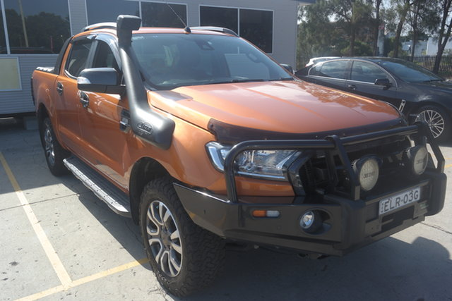 Used Ford Ranger PX MkII Wildtrak Double Cab Maryville, 2017 Ford Ranger PX MkII Wildtrak Double Cab Orange 6 Speed Sports Automatic Utility