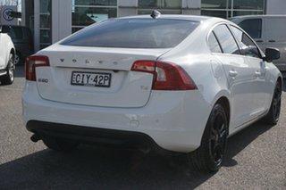 2012 Volvo S60 F Series MY12 T4 PwrShift Teknik White 6 Speed Sports Automatic Dual Clutch Sedan