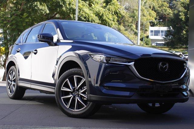 Demo Mazda CX-5 KF4WLA GT SKYACTIV-Drive i-ACTIV AWD Newstead, 2020 Mazda CX-5 KF4WLA GT SKYACTIV-Drive i-ACTIV AWD Deep Crystal Blue 6 Speed Sports Automatic