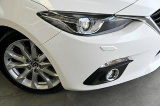 2015 Mazda 3 BM5238 SP25 SKYACTIV-Drive GT White 6 Speed Sports Automatic Sedan.