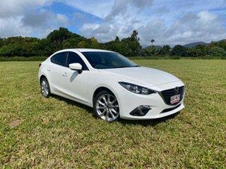 2016 Mazda 3 BM MY15 SP25 White 6 Speed Manual Sedan.