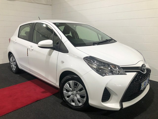 Used Toyota Yaris NCP130R Ascent Glenorchy, 2015 Toyota Yaris NCP130R Ascent White 5 Speed Manual Hatchback
