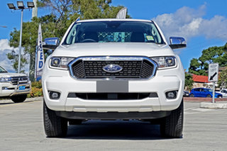 2020 Ford Ranger PX MkIII 2021.25MY XLT Double Cab White 6 Speed Sports Automatic Double Cab Chassis.