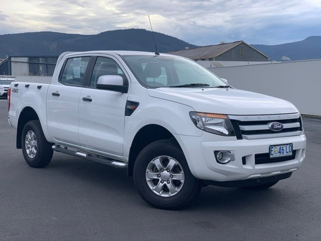 Used Ford Ranger PX XLS Double Cab Moonah, 2015 Ford Ranger PX XLS Double Cab White 6 Speed Sports Automatic Utility