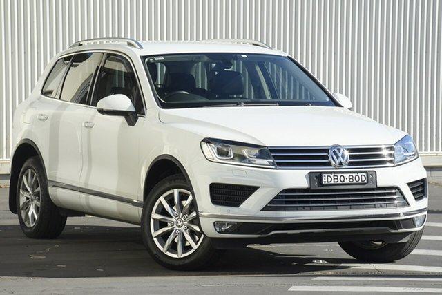 Used Volkswagen Touareg 7P MY16 150TDI Tiptronic 4MOTION Wollongong, 2015 Volkswagen Touareg 7P MY16 150TDI Tiptronic 4MOTION White 8 Speed Sports Automatic Wagon