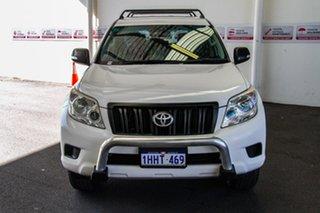 2011 Toyota Landcruiser Prado KDJ150R GX (4x4) Glacier White 6 Speed Manual Wagon.