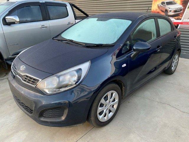 Used Kia Rio UB MY12 S Gladstone, 2012 Kia Rio UB MY12 S Blue 6 Speed Manual Hatchback