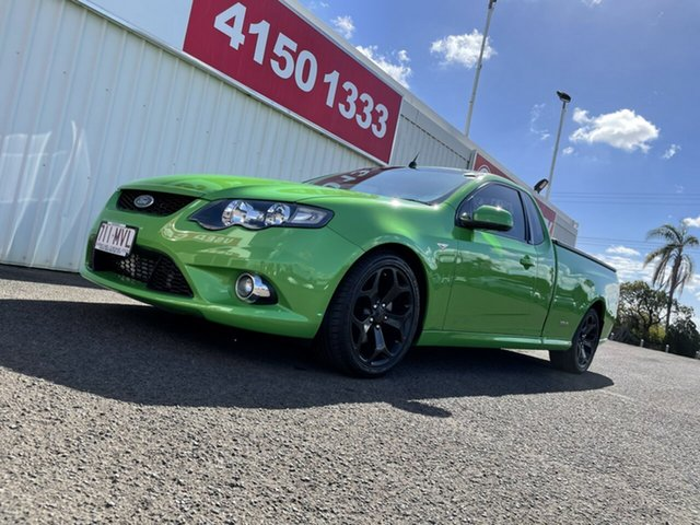 Used Ford Falcon FG XR6 Ute Super Cab Turbo Bundaberg, 2009 Ford Falcon FG XR6 Ute Super Cab Turbo Green 6 Speed Sports Automatic Utility