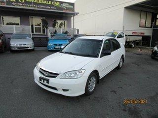 2004 Honda Civic 7th Gen GLi White 4 Speed Automatic Sedan.