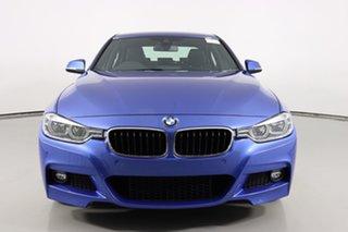 2017 BMW 330i F30 LCI M Sport Estoril Blue 8 Speed Automatic Sedan.