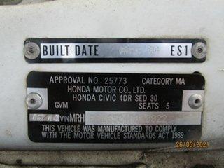 2004 Honda Civic 7th Gen GLi White 4 Speed Automatic Sedan
