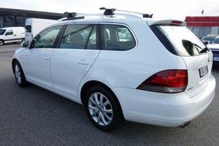 2010 Volkswagen Golf VI MY10 103TDI DSG Comfortline White 6 Speed Sports Automatic Dual Clutch Wagon.