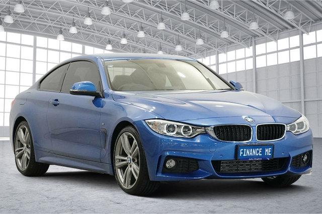 Used BMW 4 Series F32 420i M Sport Victoria Park, 2015 BMW 4 Series F32 420i M Sport Blue 8 Speed Sports Automatic Coupe