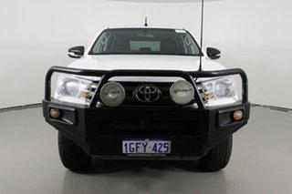 2017 Toyota Hilux GUN126R SR (4x4) White 6 Speed Manual Dual Cab Utility.