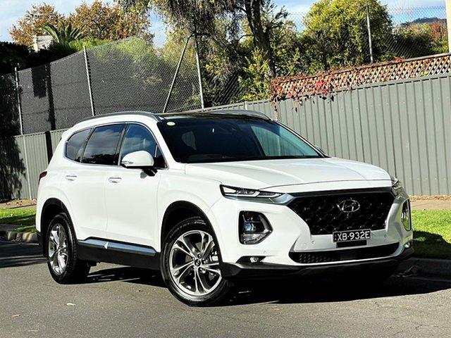 Used Hyundai Santa Fe TM MY19 Highlander Hyde Park, 2019 Hyundai Santa Fe TM MY19 Highlander White 8 Speed Sports Automatic Wagon