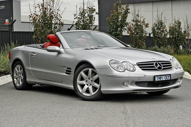 Used Mercedes-Benz SL-Class R230 MY05 SL350 Essendon Fields, 2005 Mercedes-Benz SL-Class R230 MY05 SL350 Silver 5 Speed Sports Automatic Roadster