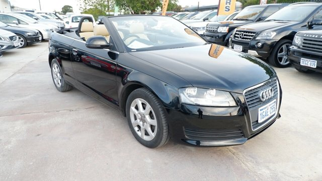 Used Audi A3 8P MY10 TFSI S Tronic Attraction St James, 2010 Audi A3 8P MY10 TFSI S Tronic Attraction Black 7 Speed Sports Automatic Dual Clutch Convertible