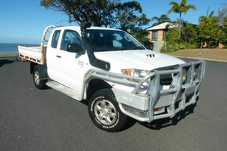 2007 Toyota Hilux KUN26R MY08 SR Xtra Cab White 5 Speed Manual Cab Chassis.