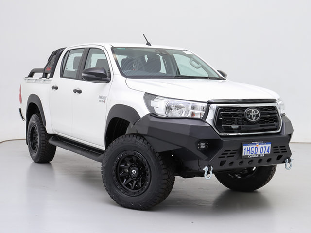Used Toyota Hilux GUN126R MY19 Upgrade SR (4x4), 2020 Toyota Hilux GUN126R MY19 Upgrade SR (4x4) White 6 Speed Manual Double Cab Chassis