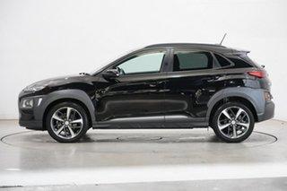 2018 Hyundai Kona OS MY18 Highlander D-CT AWD Phantom Black 7 Speed Sports Automatic Dual Clutch.