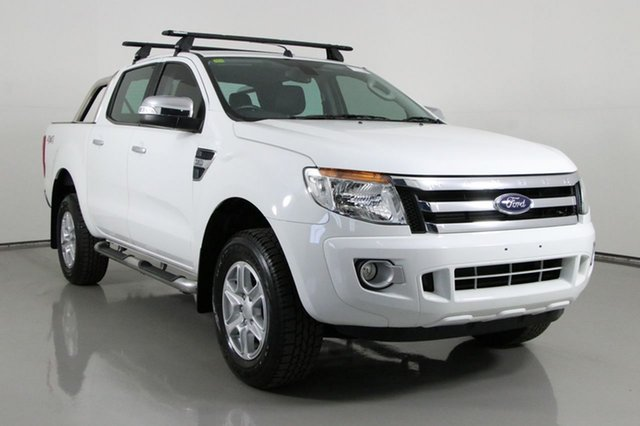 Used Ford Ranger PX XLT 3.2 (4x4) Bentley, 2015 Ford Ranger PX XLT 3.2 (4x4) White 6 Speed Automatic Double Cab Pick Up