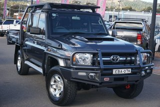 2019 Toyota Landcruiser VDJ79R GXL Double Cab Grey 5 Speed Manual Cab Chassis.