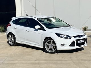 2014 Ford Focus LW MkII Titanium PwrShift White 6 Speed Sports Automatic Dual Clutch Hatchback.