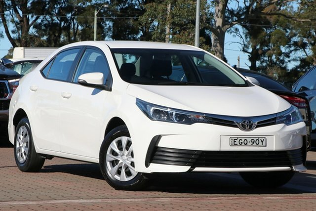 Pre-Owned Toyota Corolla ZRE172R Ascent S-CVT Warwick Farm, 2018 Toyota Corolla ZRE172R Ascent S-CVT White 7 Speed Constant Variable Sedan
