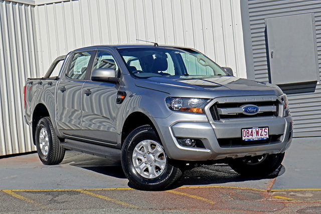 Used Ford Ranger PX MkII XLS Double Cab Springwood, 2016 Ford Ranger PX MkII XLS Double Cab Silver 6 Speed Manual Utility