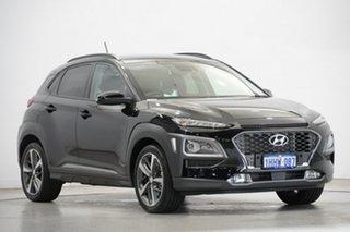 2018 Hyundai Kona OS MY18 Highlander D-CT AWD Phantom Black 7 Speed Sports Automatic Dual Clutch