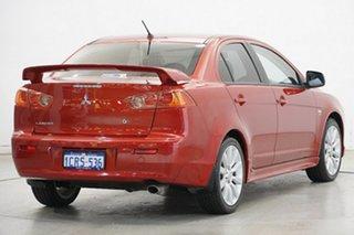 2007 Mitsubishi Lancer CH MY07 VR-X Red Metallic 4 Speed Sports Automatic Sedan