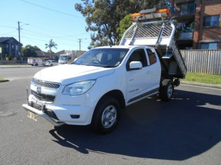 2013 Holden Colorado RG LX (4x4) White 6 Speed Automatic Space Cab Chassis.