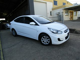 2012 Hyundai Accent RB Active White 4 Speed Sports Automatic Hatchback.
