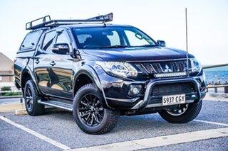 2018 Mitsubishi Triton MQ MY18 Blackline Double Cab Black 5 Speed Sports Automatic Utility.