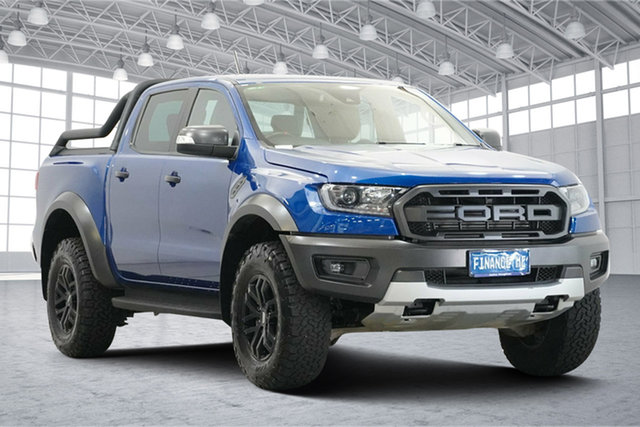 Used Ford Ranger PX MkIII 2019.75MY Raptor Victoria Park, 2019 Ford Ranger PX MkIII 2019.75MY Raptor Blue 10 Speed Sports Automatic Double Cab Pick Up