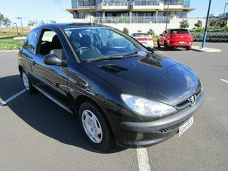 2006 Peugeot 206 XR Black 5 Speed Manual Hatchback.