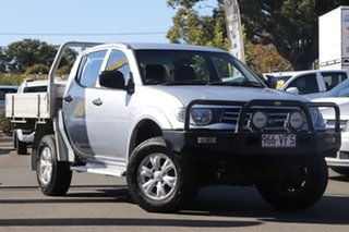 2014 Mitsubishi Triton MN MY15 GLX Double Cab Silver 5 Speed Manual Utility.