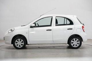 2013 Nissan Micra K13 MY13 ST White 4 Speed Automatic Hatchback.