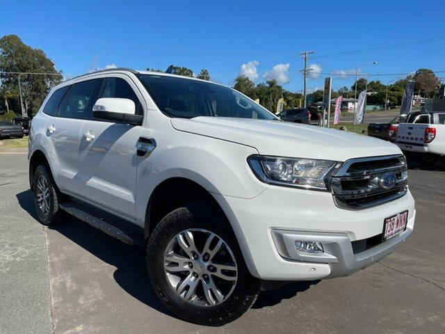 Used Ford Everest UA Trend Gympie, 2016 Ford Everest UA Trend White 6 Speed Sports Automatic SUV
