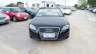 2010 Audi A3 8P MY10 TFSI S Tronic Attraction Black 7 Speed Sports Automatic Dual Clutch Convertible.