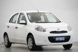 2013 Nissan Micra K13 MY13 ST White 4 Speed Automatic Hatchback