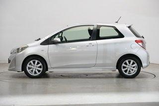 2011 Toyota Yaris NCP131R ZR Silver 5 Speed Manual Hatchback.