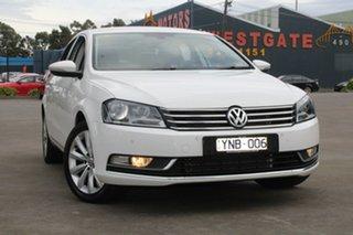 2011 Volkswagen Passat 3C MY11 118 TSI White 7 Speed Auto Direct Shift Sedan.